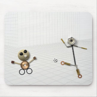The doll of the handmade stuff which various 2 mouse pad