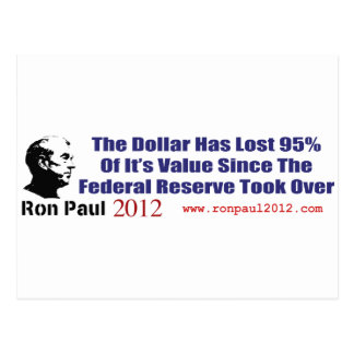The Dollar Has Lost 95 Percent Of It's Value Postcard
