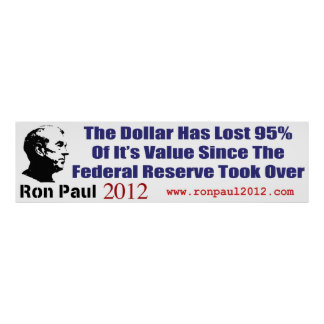 The Dollar Has Lost 95 Percent Of It's Value Print