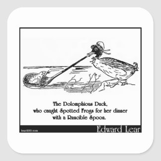 The Dolomphious Duck Square Sticker