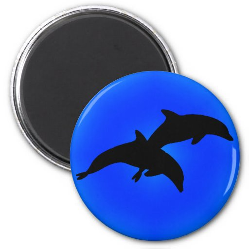 THE DOLPHIN BLISS REFRIGERATOR MAGNET