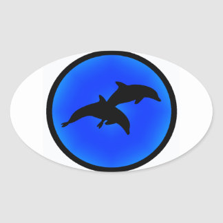 THE DOLPHIN BLISS OVAL STICKER