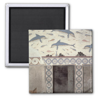 The Dolphin Frescoes in the Queen's Bathroom 2 Inch Square Magnet