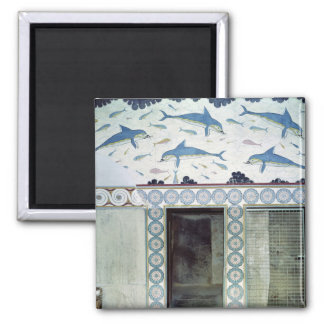 The Dolphin Frescoes in the Queen's Bathroom Magnets