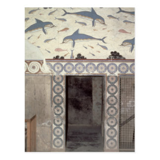 The Dolphin Frescoes in the Queen's Bathroom Postcard