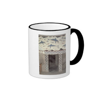 The Dolphin Frescoes in the Queen's Bathroom Ringer Mug