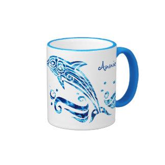 The Dolphin is My Friend Blue Sea Water Marine Joy Ringer Mug