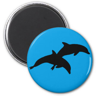 THE DOLPHIN SHOWS 2 INCH ROUND MAGNET