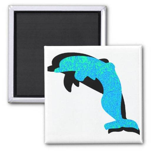 The Dolphin Slide Fridge Magnet