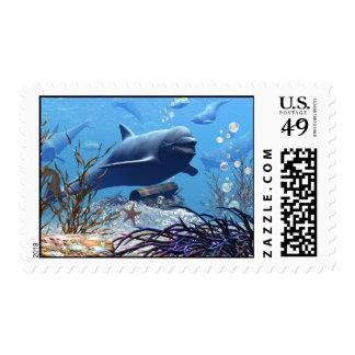 The Dolphins and The Treasure Chest Postage
