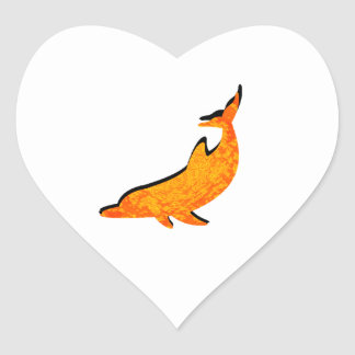 THE DOLPHINS SOL HEART STICKER