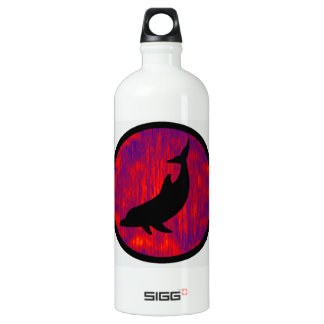 THE DOLPHINS WAVELENGTH ALUMINUM WATER BOTTLE