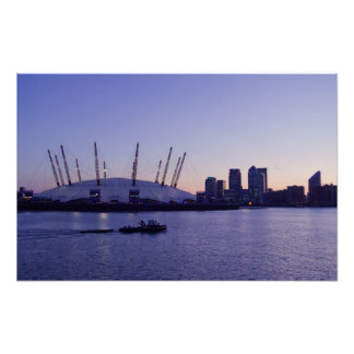 The Dome at sunset on the Thames river Poster