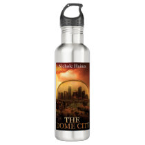 THE DOME CITY SCI-FI BOOK PRODUCTS STAINLESS STEEL WATER BOTTLE