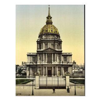 The Dome des Invalides Paris France vintage Phot Postcard