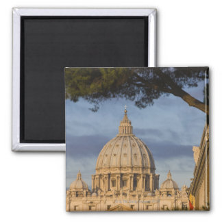 the dome of Saint Peter's Basilica, Vatican, 2 Inch Square Magnet