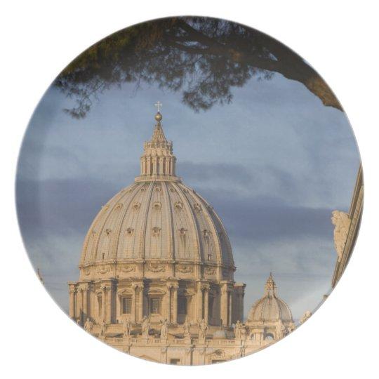 the dome of Saint Peter's Basilica, Vatican, Melamine Plate