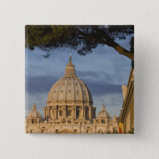 the dome of Saint Peter's Basilica, Vatican, Pinback Button