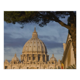 the dome of Saint Peter's Basilica, Vatican, Poster