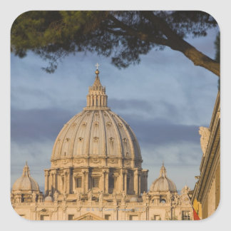 the dome of Saint Peter's Basilica, Vatican, Square Sticker