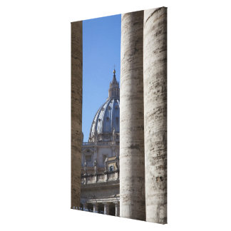 The dome of Saint Peters Bassilica, Bassilica Canvas Print