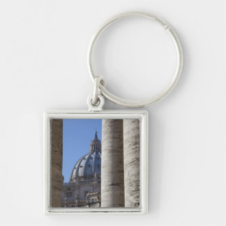 The dome of Saint Peters Bassilica Bassilica Keychain