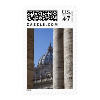 The dome of Saint Peters Bassilica, Bassilica Postage Stamp