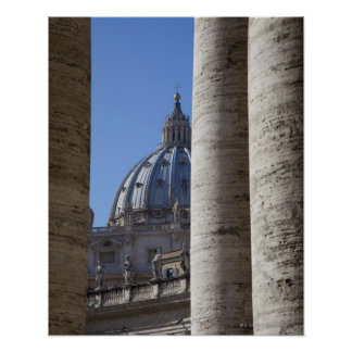 The dome of Saint Peters Bassilica, Bassilica Poster