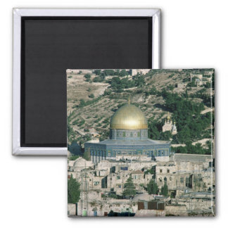 The Dome of the Rock, built AD 692 2 Inch Square Magnet