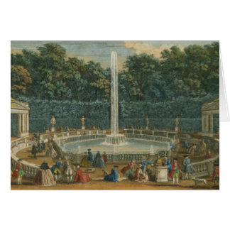 The Domes in the Garden at Versailles, pub. by Lau Greeting Card