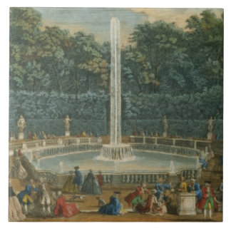 The Domes in the Garden at Versailles, pub. by Lau Ceramic Tile