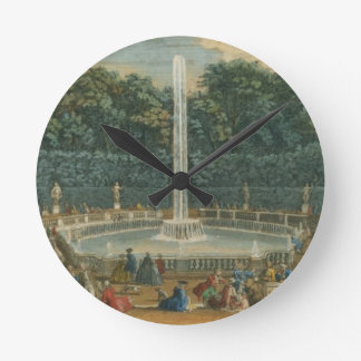 The Domes in the Garden at Versailles, pub. by Lau Round Clock