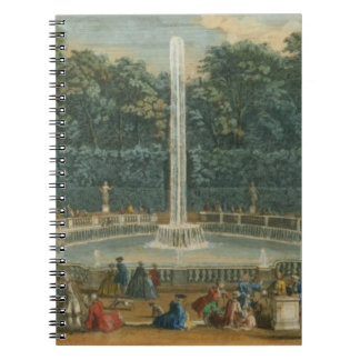 The Domes in the Garden at Versailles, pub. by Lau Spiral Note Book
