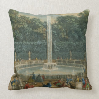The Domes in the Garden at Versailles, pub. by Lau Throw Pillow