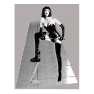The Dominatrix 3D Post Cards