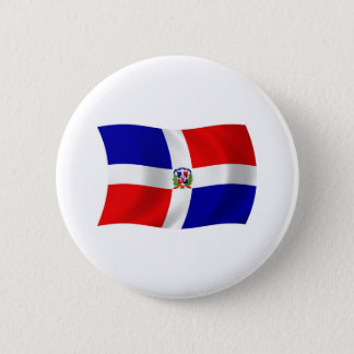 The Dominican Republic Flag Button