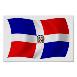 The Dominican Republic Flag Poster Print