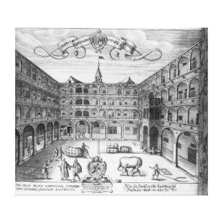The 'Domus Germanorum' in Venice, 1616 Canvas Print
