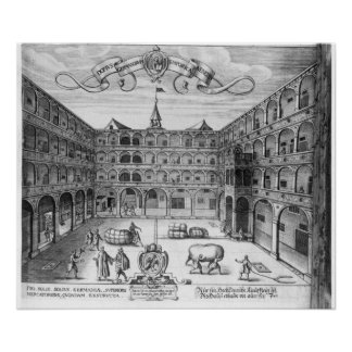 The 'Domus Germanorum' in Venice, 1616 Poster