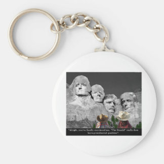 """The Donald's Presidental Qualities"" Keychains"