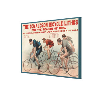 The Donaldson Bicycle Lithos Vintage Advertising Stretched Canvas Print