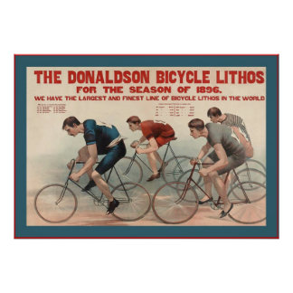 The Donaldson Bicycle Lithos ~ Vintage Advertising Poster