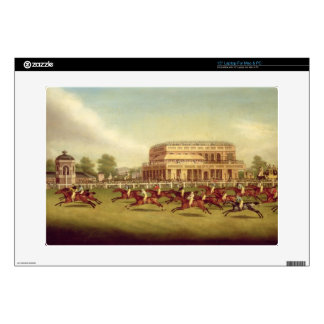 """The Doncaster St. Leger of 1812 - The Finish (afte 15"""" Laptop Decals"""