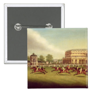 The Doncaster St. Leger of 1812 - The Finish (afte Pinback Button
