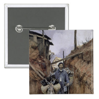 The Donkey, Somme, 1916 2 Inch Square Button