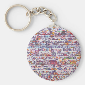 The Doodle Wars Keyring Basic Round Button Keychain