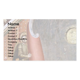 The Doomsday Detail By Giotto Di Bondone Business Card Template