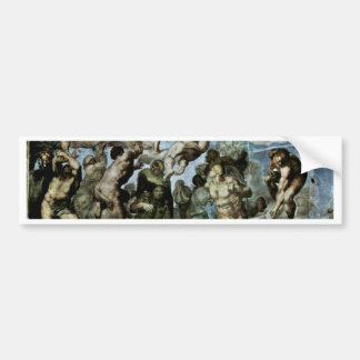 The Doomsday Fresco On The Altar Wall Of The Sisti Bumper Sticker