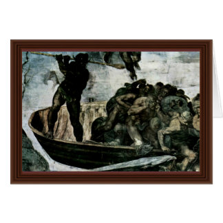 The Doomsday Fresco On The Altar Wall Of The Sisti Greeting Card
