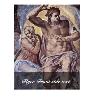 The Doomsday Fresco On The Altar Wall Of The Sisti Flyer